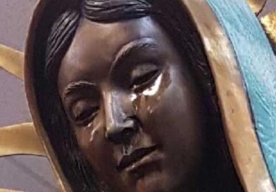 """No encuentran """"causas naturales"""" para lágrimas de la Virgen de Guadalupe en Estados Unidos"""