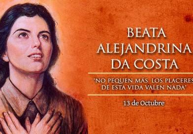 Hoy celebramos a la Beata Alejandrina Da Costa, quien vivió la pasión de Cristo