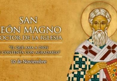 Hoy es fiesta de San León Magno, Doctor de la Iglesia y protector de los indefensos